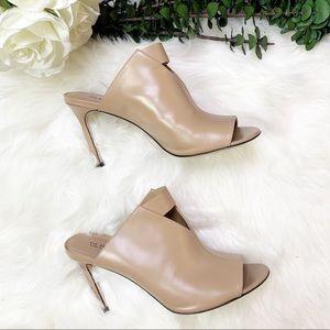 Via Spiga | Mira Leather Peep Toe Sandal